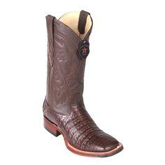 Los Altos Caiman Belly Wide Square Toe Cowboy Boots