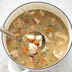 Hearty Chicken Stew @TestKitchen #AETN #BeMore