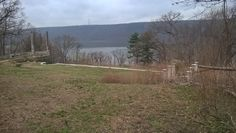 Left: Bottom Grand Staircase Terrace view of Hudson River. Right: Columns