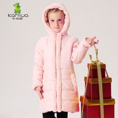 KAMIWA 2017 Wool-like Collar Baby Girls Cotton-padded Jackets Girls Winter Coats Clothing Thicken Brand Parkas Kids Clothes