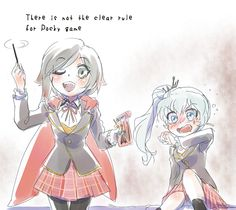 Ruby and Weiss- White Rose Pocky Day