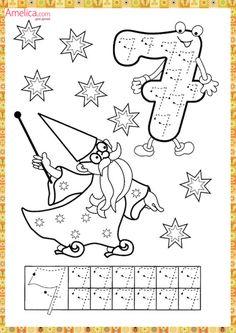 Numbers handwriting sheets for kids Preschool Printables, Preschool Worksheets, Kindergarten Math, Learning Activities, Preschool Activities, Kids Learning, Writing Worksheets, Math Numbers, Letters And Numbers