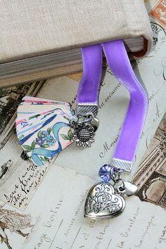 Purple Spring Book Mark: