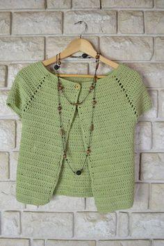 Elenarte: Patrón de chaqueta de ganchillo para todas las tallas Crochet Bolero Pattern, Crochet Jacket, Crochet Cardigan, Crochet Patterns, Crochet Woman, Love Crochet, Diy Crochet, Vintage Crochet, Crochet Clothes