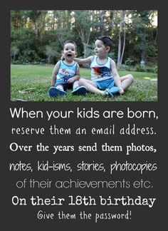 Not a bad idea for older parents to do for their grown children because one day… Great Idea For Your Kids quotes quote memories family quote family quotes parent quotes mother quotes parenting ideas Quote Memories, Childhood Memories, Making Memories, Sweet Memories, Baby Kind, Baby Love, Dream Baby, Kids And Parenting, Parenting Hacks