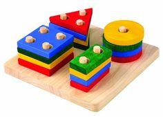 Amazon.com: Plan Toy Geometric Sorting Board: Toys & Games