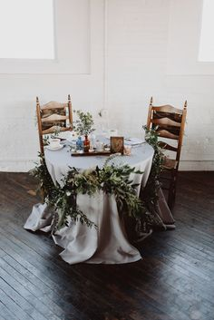 Shannon + Jason 10.25.2014 Sweetheart Table Garland by the Rustic Bunch  at Reading Art Works