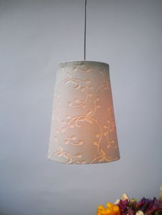 Big Fancy porcelain hanging lamp by LightfixtureTamar on Etsy, $84.00