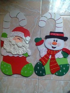 navidad 2014 manualidades en foami - Buscar con Google Felt Christmas, Christmas Projects, Christmas Stockings, Christmas Holidays, Christmas Decorations, Xmas, Christmas Ornaments, 242, Theme Noel