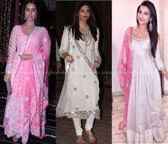 Bollywood Celebrity Diwali Salwars