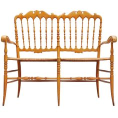 Chiavari bench, light weight Italy 1950 | From a unique collection of antique and modern benches at http://www.1stdibs.com/furniture/seating/benches/