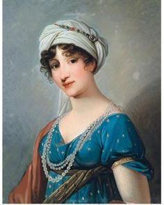 Дамы в тюрбанах - 3 - Lady Mary Wortley Montagu, Józef Grassi (?). Неправильный глагол