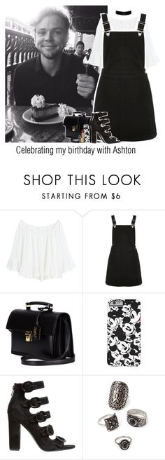 """""""Celebrating my birthday with Ashton"""" by reasongirl ❤ liked on Polyvore featuring MANGO, Oasis, Yves Saint Laurent, Kendall + Kylie, Forever 21 and Dolce&Gabbana"""