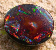 6.75 CTS FANTASTIC BOULDER RING STONE [Q830 ] http://www.opalauctions.com/auctions/boulder-opal/item-303354