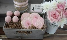 Pretty pink treats at a Vintage Cowgirl Party.  See more party ideas at CatchMyParty.com.  #cowgirlpartyideas