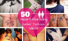 50 Heart-Warming Sister Tattoos Ideas | StayGlam