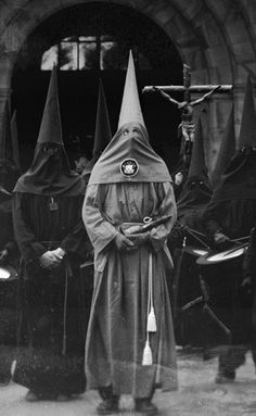 Not the KKK but are just as dangerous!!.............. just as creepy!! SECRET SOCIETIES/FREEMASONRY/RELIGION!!(says previous pinner )