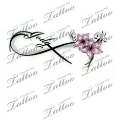 Infinity Love Tattoo | Flower #103891 | CreateMyTattoo.com
