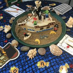 Phonics - buried treasure Year 1 Classroom, Early Years Classroom, Pirate Activities, Phonics Activities, Maths Display, Creative Area, Block Play, Tuff Tray, Buried Treasure