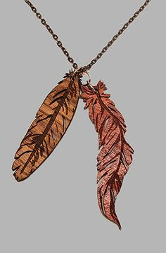 GoodWood feather necklace