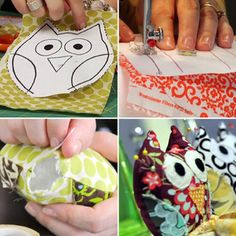 How to make an owl pin cushion (including template) :-)
