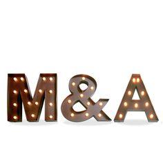 Iluminación metálica decorativa letras M&A (Decoración metálica iluminada) - Sillas de diseño, mesas de diseño, muebles de diseño, Modern Classics, Contemporary Designs...