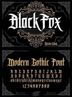 Black Fox font typography BlackLetter typeface FontDesign fonts GothicFont vintage bookcover creativemarket GraphicDesign design designresources BestDesignResources is part of Tattoo fonts alphabet - Fonte Alphabet, Design Alphabet, Gothic Alphabet, Graffiti Lettering Fonts, Tattoo Lettering Fonts, Lettering Styles, Calligraphy Fonts, Typography Letters, Hand Lettering