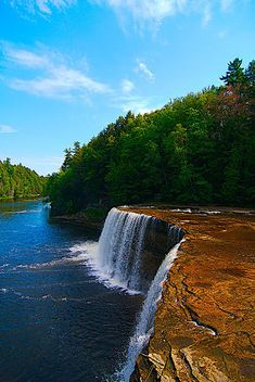 Summer at Tahquamenon Falls in UP Michigan