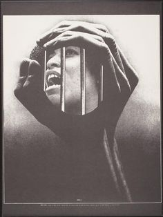 "Barry Shapiro Fanshen Press - ""Angela"" 1971. Collage of Angela Davis: http://en.wikipedia.org/wiki/Angela_Davis"