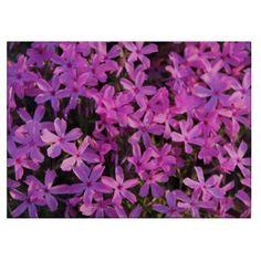 Pretty Purple Flowers Cutting Board