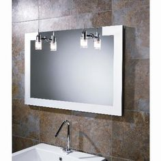 Hib Felix Illuminated Mirror With Demista Pad A Landscape Frosted Gl Edges