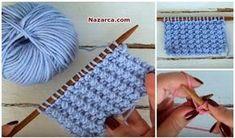 2017 Örgü Modelleri ve Yeni Şiş İşi Örgüler-Her örgü modelinde kullanılır Sürüm Örgü Modeli yapımı . Keyifli,çabuk örülen ve Kolay örgü modeli.Videolu Örgü Tarifleri için Örgü Videoları bölümünde d… Cable Knitting, Knitting Stitches, Hand Knitting, Knitted Baby Clothes, Knitted Hats, Crochet Hats, Knit Crochet, Easy Knitting Patterns, Crochet Baby Booties