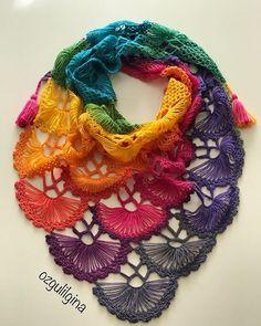 ergahandmade: Crochet Shawl + Video Tutorial Crochet Shawl Diagram, Crochet Shawl Free, Crochet Shawls And Wraps, Granny Square Crochet Pattern, Crochet Scarves, Crochet Cardigan, Hairpin Lace Crochet, Freeform Crochet, Crochet Motif