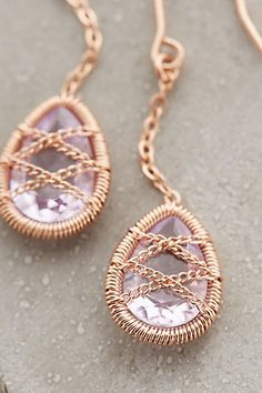 Blushed Amethyst Drops - anthropologie.com #anthrofave