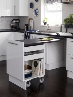 Don't feel limited by a small kitchen space. Get design inspiration from these c… Don't feel limited by a small kitchen space. Get design inspiration from these charming small kitchen designs. Kitchen Organization, Kitchen Storage, Storage Shelves, Diy Kitchen, Kitchen Decor, Kitchen Ideas, Small Kitchen Inspiration, Kitchen Small, Ideas For Small Kitchens