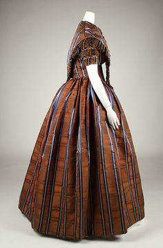 Dress (American) ca. 1845-50; side view