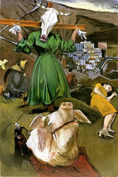'Scarecrow and the Pig', pastel on paper on board, 2005 Paula Rego Art, Mario Cesariny, Matte Painting, Gcse Art, Figure Painting, Human Painting, Sculpture, Contemporary Paintings, Art Google