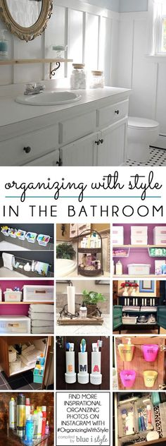 BATHROOM ORGANIZATION IDEAS! 12 great tips and tricks to organize bathrooms for adults and kids alike.