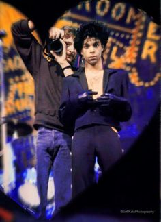"Prince • 1987 'Sign ""☮"" The Times' Era - On the Paisley Park album cover set, taking a selfie from the 'Heart Mirror' with Prince's best photographer ever - Jeff Katz!"