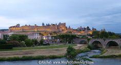 Carcassonne_Remparts et château à la nuit tombante