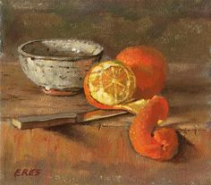 "Daily Paintworks - ""Two Oranges"" - Original Fine Art for Sale - © Walter Eres"