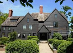 The House of Seven Gables in Salem, inspiration for Nathanial Hawthorne. It remains a large, imposing structure built in 1668 near the harbor.