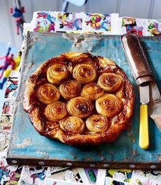 Caramelised onion tarte tatin