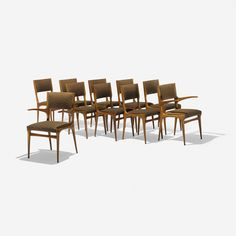 210: Carlo de Carli / dining chairs, set of ten < Design, 17 October 2013 < Auctions | Wright