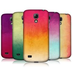 HEAD CASE WATERCOLOURED OMBRE BACK CASE FOR SAMSUNG GALAXY S4 MINI I9190 I9192; yellow and magenta