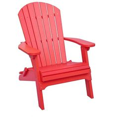 Amish Poly Wood Adirondack Folding Chair ($315) ❤ liked on Polyvore featuring home, outdoors, patio furniture, outdoor chairs, furniture, chairs, decor, red, interior and wood folding chairs