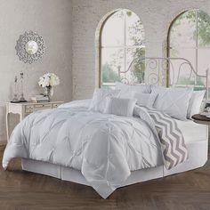 Avondale Manor Ella Pinch Pleat 7-pc. Comforter Set, White