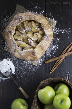 Apple Galette Recipe - Food Photography - Food Styling
