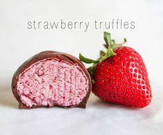 Strawberry truffles are amazing - creamy and sweet with just a hint of bitterness from the dark chocolate coating. And you can make the truffles dairy free and even vegan if you use the right chocolate. :DI'm always scoping out dairy free desserts - I want to eat all the desserts without getting a food baby!These strawberry truffles came out of recipe I found for strawberry creme truffles on Pinterest. I tried it out but just wasn't happy with the flavor - there wasn't any! So I messed with…