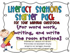 This is my back to school literacy pack that has been translated in Spanish for the Bilingual and Dual language classroom. It includes activities f...   # Pin++ for Pinterest #